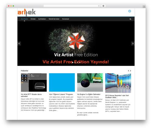 Pinpoint WordPress website template - arttek.com.tr