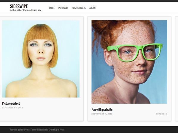 Sideswipe WordPress page template