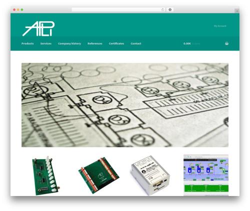 Storefront free WP theme - apli.sk