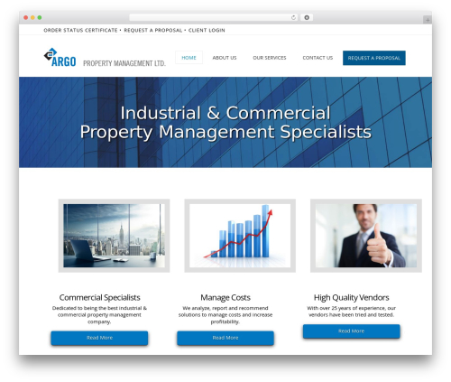 X business WordPress theme - argoproperty.ca