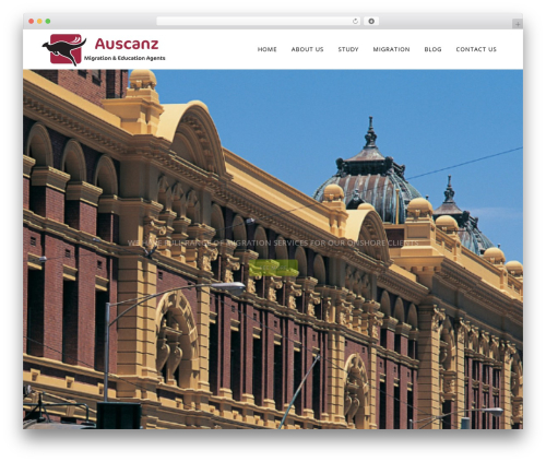 Bridge WordPress theme design - auscanz.com.au