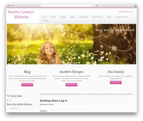 Free WordPress WP Family Tree plugin - auntielovey.com