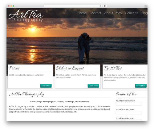 Gantry Theme for WordPress WordPress template for photographers - arttraphotography.com