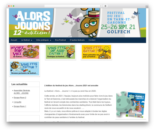 Gridiculous WP theme - alorsjouons.fr
