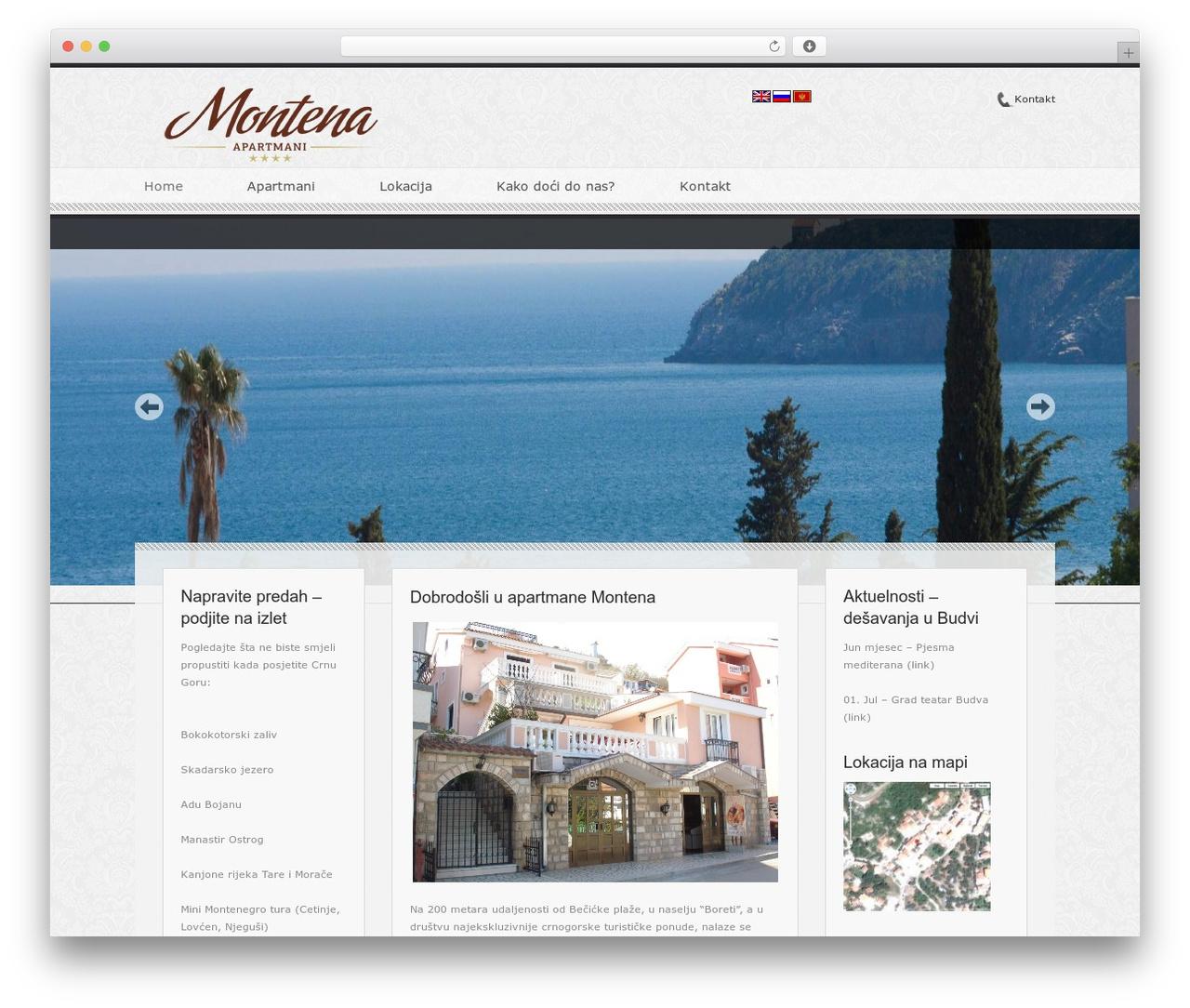 Hotel Classica theme WordPress - apartments-montena.com