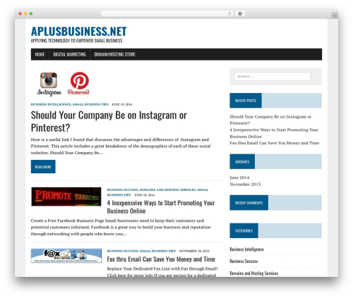 MH Newsdesk lite best WordPress magazine theme - aplusbusiness.net