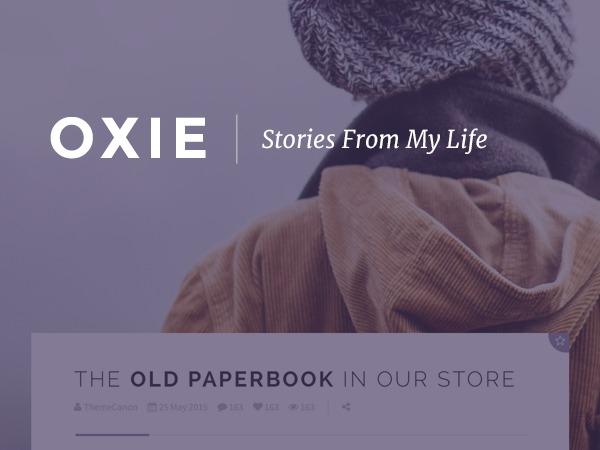 Oxie (shared on wplocker.com) WordPress blog theme
