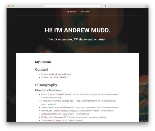 Padhang WordPress video template - andrewmudd.com
