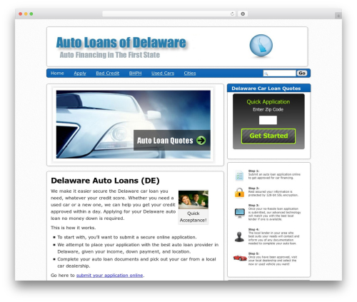 Semiologic Pinnacle theme WordPress - autoloansdelaware.com