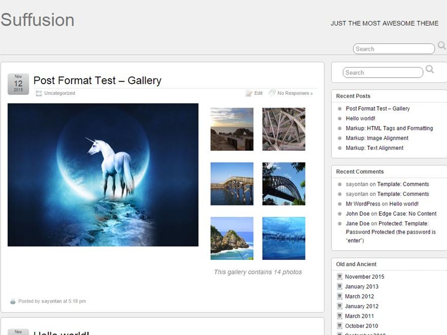 Suffusion WordPress ecommerce template