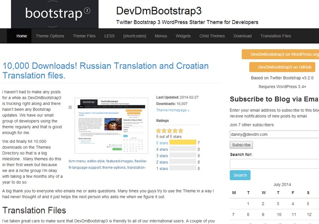 Theme WordPress devdmbootstrap3-child-aupairnet