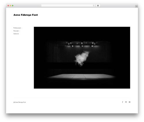 WordPress template Reframe Plus - annafabrega.com
