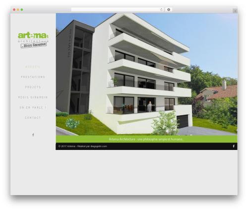 Archi WordPress website template - artema.ch