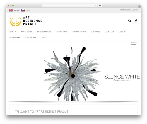 Aurum WordPress template - artresidenceprague.com