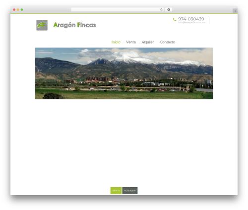 Best WordPress template ESTA - aragonfincas.com