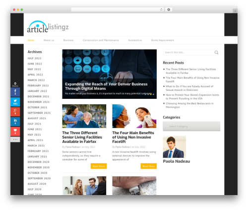Best WordPress template Split - articlelistingz.com