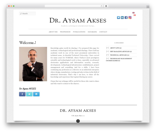 Elemin top WordPress theme - aysamakses.com