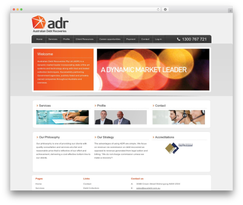 Enterprise Child Theme WordPress website template - ausdebt.com.au
