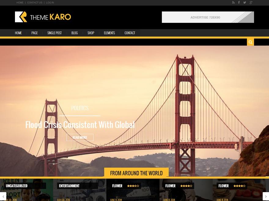 Karo Light WordPress news template