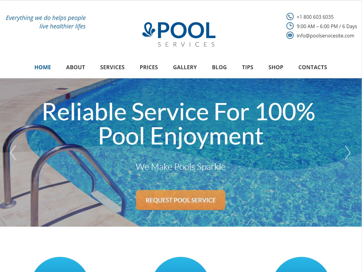 Pool Services WP theme