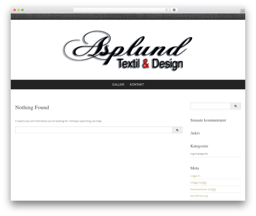 Pure & Simple best free WordPress theme - asplundtextil.se