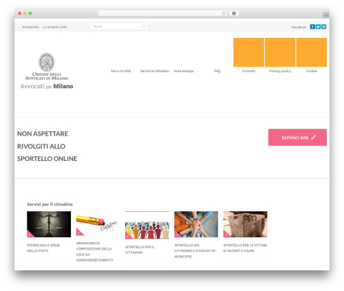 Second touch WordPress website template - avvocatipermilano.it