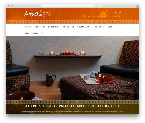 WordPress theme Dream Spa - artepil.com