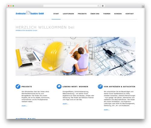 WordPress theme Rework - armbruster-baubuero.de
