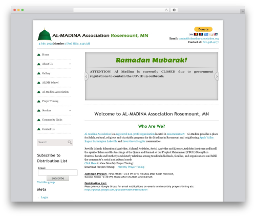 WordPress theme Swiftray Pro Responsive Theme - almadina-association.org
