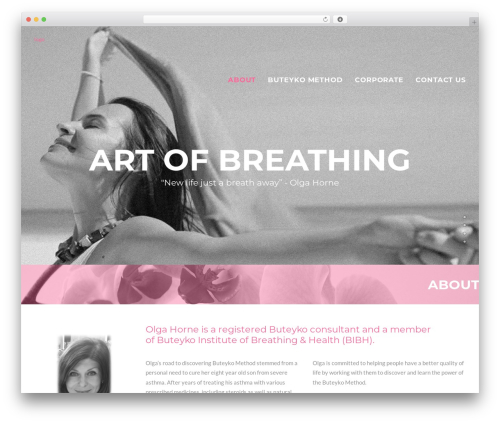 WordPress theme Uncode - artofbreathing.net
