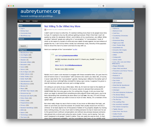 WordPress website template Eximius - aubreyturner.org
