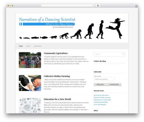 Fresh & Clean theme WordPress - amirniroumand.org