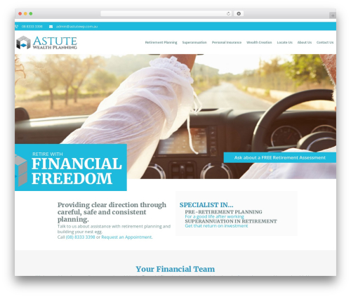 WordPress Slider Revolution plugin - astutewealthplanning.com.au