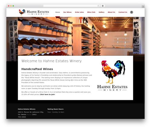 Passage best WordPress template - hahneestateswinery.com