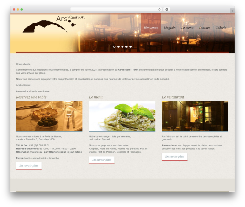 Template WordPress White Rock - ars-vinorum.com
