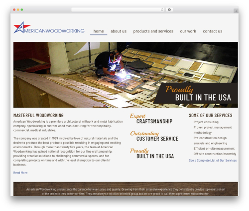 Free WordPress Page Builder by SiteOrigin plugin - americanwoodworking.org