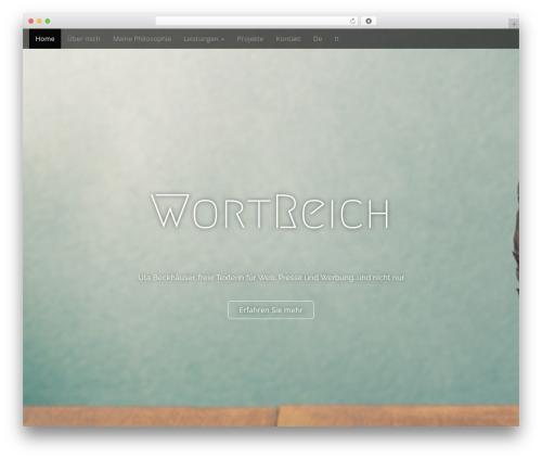 Arcade Basic WordPress website template - ub-wortreich.com