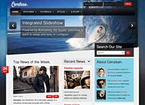 Best WordPress template Cerulean