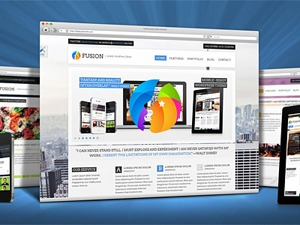 Best WordPress template Fusion