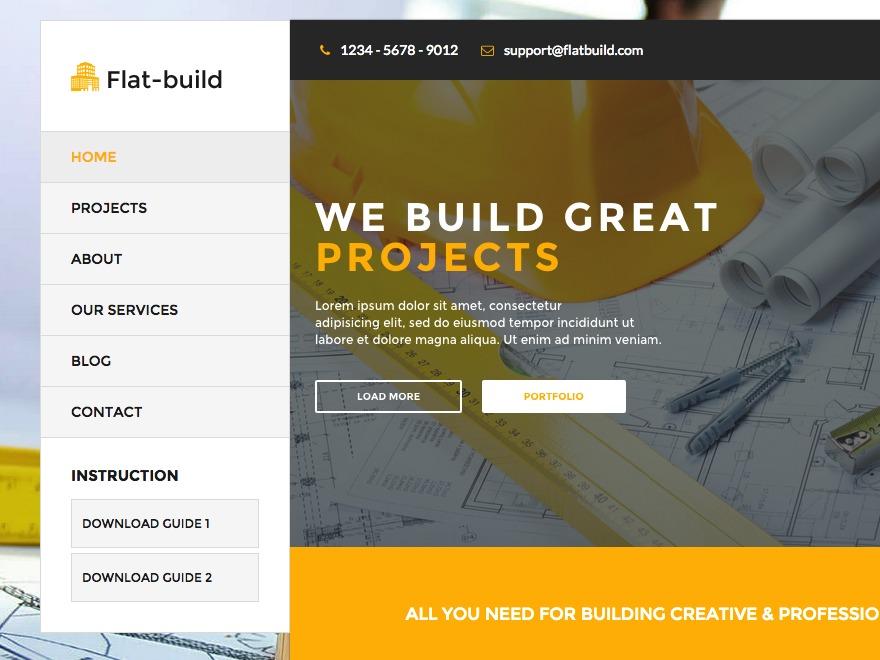 Best WordPress theme FLat Build