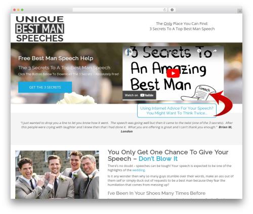 Best WordPress theme YDG Custom Theme - uniquebestmanspeeches.co.uk