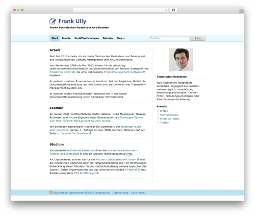 Blue WordPress blog theme - ully.com