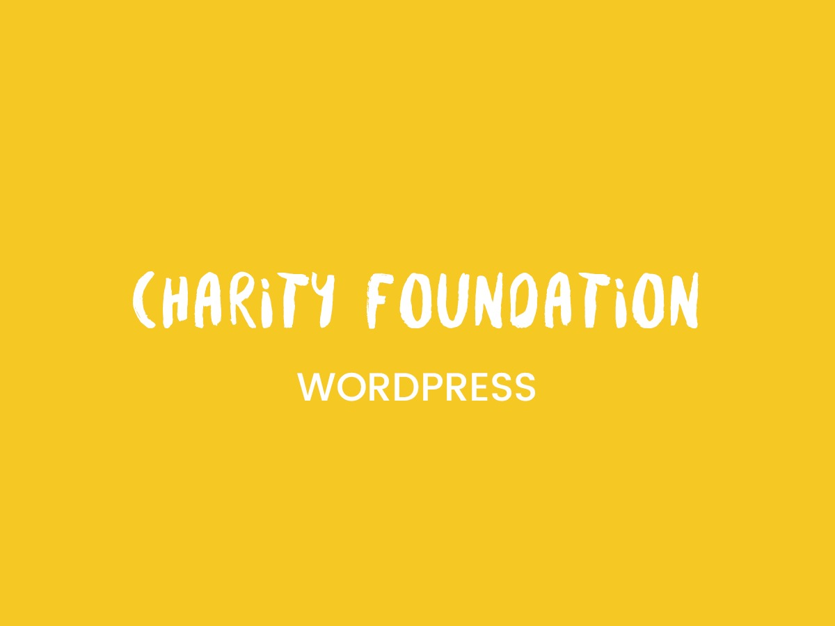 CharityFoundation WordPress template for business