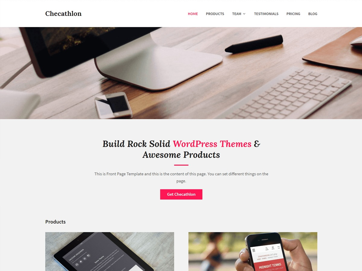 Checathlon free WP theme