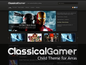 Classical Gamer WordPress gaming theme