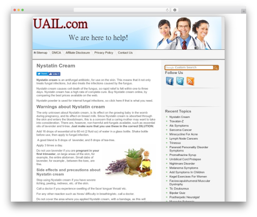 ClickBump medical WordPress theme - uail.com