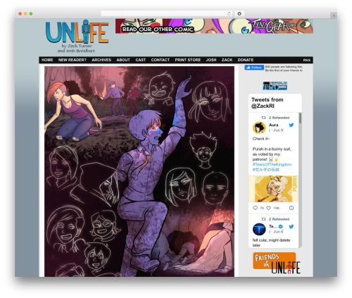 ComicPress free WP theme - unlifecomic.com