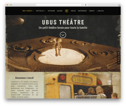 Divi best WordPress template - ubus-theatre.com