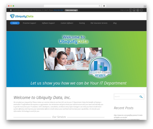 Do.Biz best WordPress theme - ubiquitydata.com