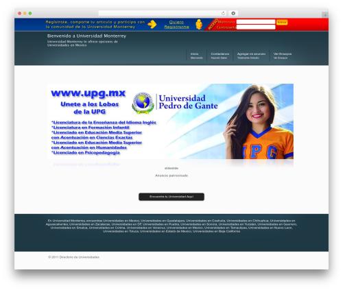 DynamiX premium WordPress theme - universidadmonterrey.com
